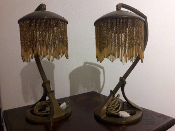 Coppia di lampade secessioniste